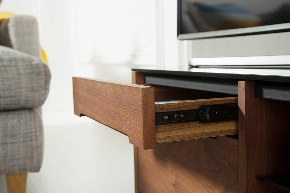 Alphason FW1100CB-W Finewoods Cabinet TV Stand in Rich Walnut