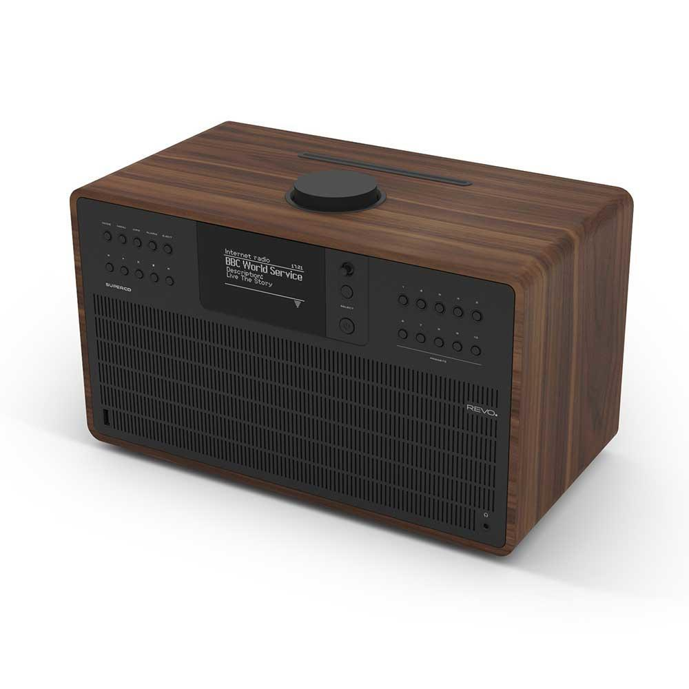Revo SuperCD DAB Internet Radio With CD Player - Walnut / Black