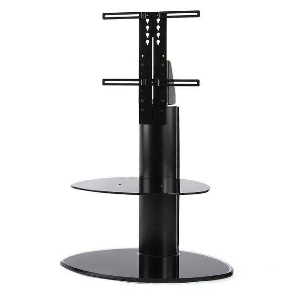 Off The Wall Motion TV Stand with TV Bracket - Black Glass