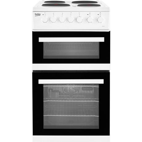 Beko EDP503W 50cm Electric Double Oven Cooker With Grill