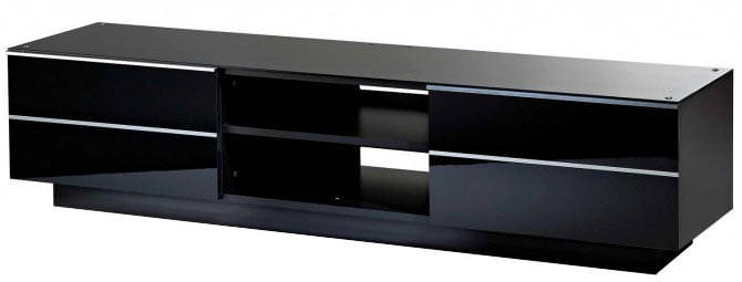 UKCF GS180 ULTIMATE 1800MM BLACK TV STAND