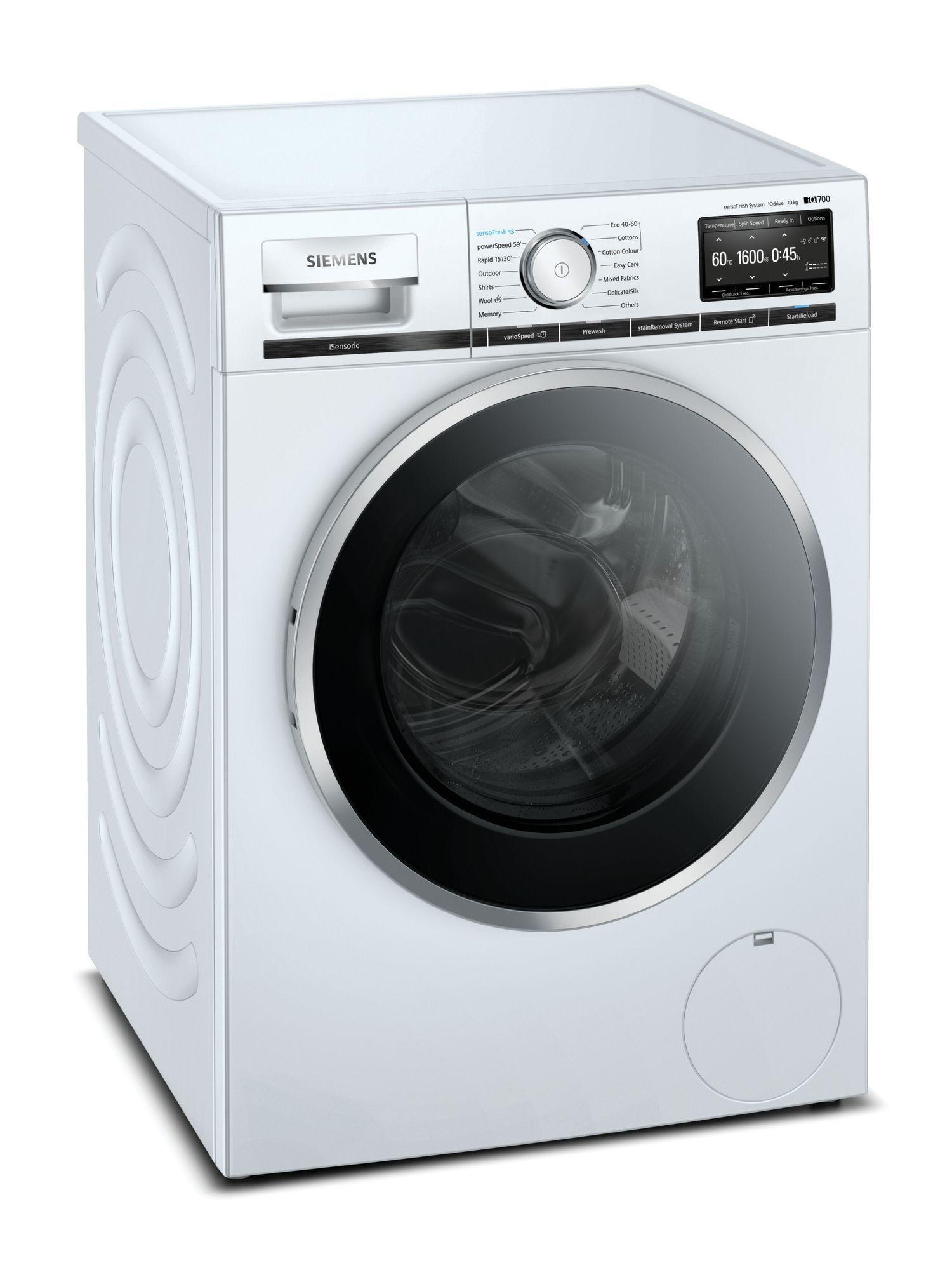 Image of iQ700 WM16XFH5GB 10Kg 1600 Spin Washing Machine | White