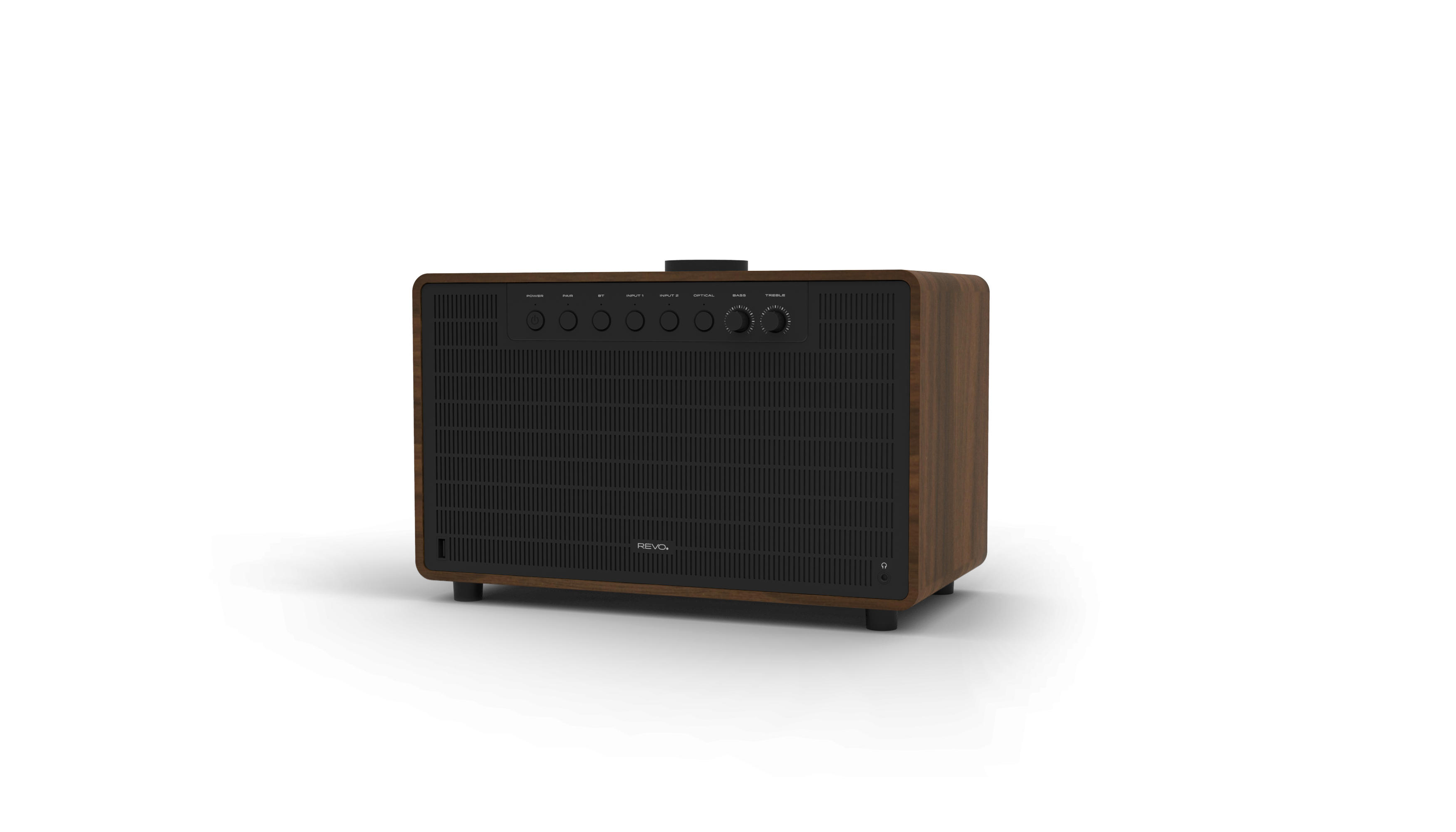 Revo SuperTone Premium Bluetooth Speaker - Walnut / Black
