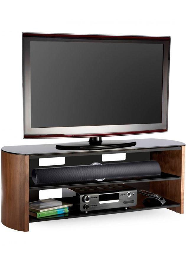 Alphason FW1350-W/B Finewoods TV Stand in Rich Walnut