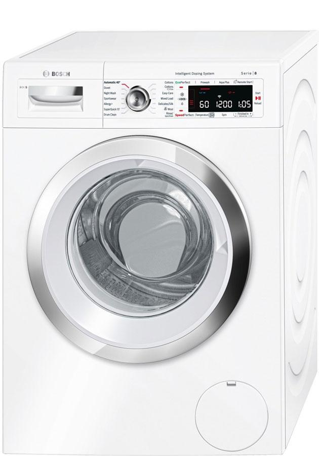 Bosch Serie 8 WAWH8660GB IDOS 9Kg 1400 Spin Washing Machine Home Connect