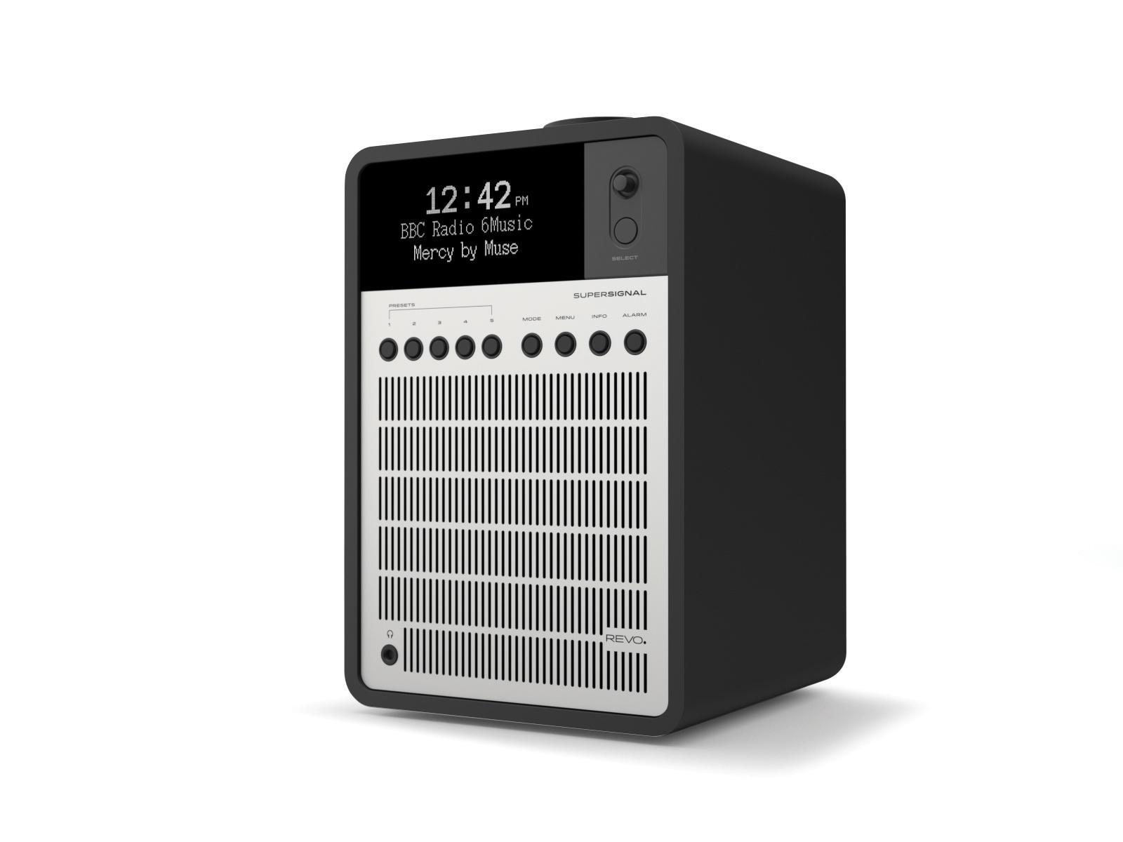 Revo SuperSignal DAB Radio with Bluetooth - Matt Black / Silver