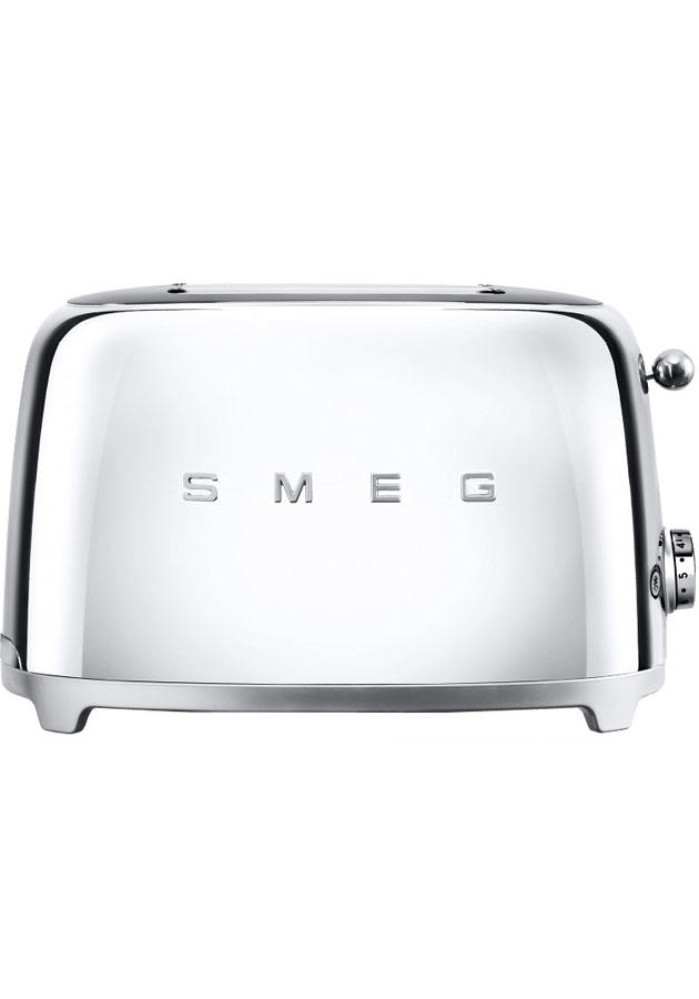 Smeg TSF01SSUK Retro 2 Slice Toaster - Chrome