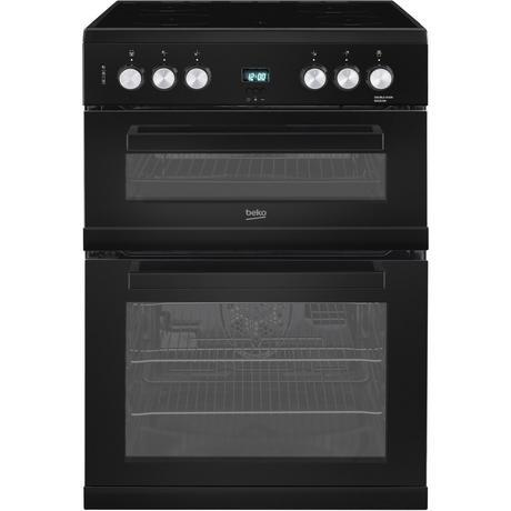 Beko EDC633K 60cm Double Oven Electric Cooker with Ceramic Hob