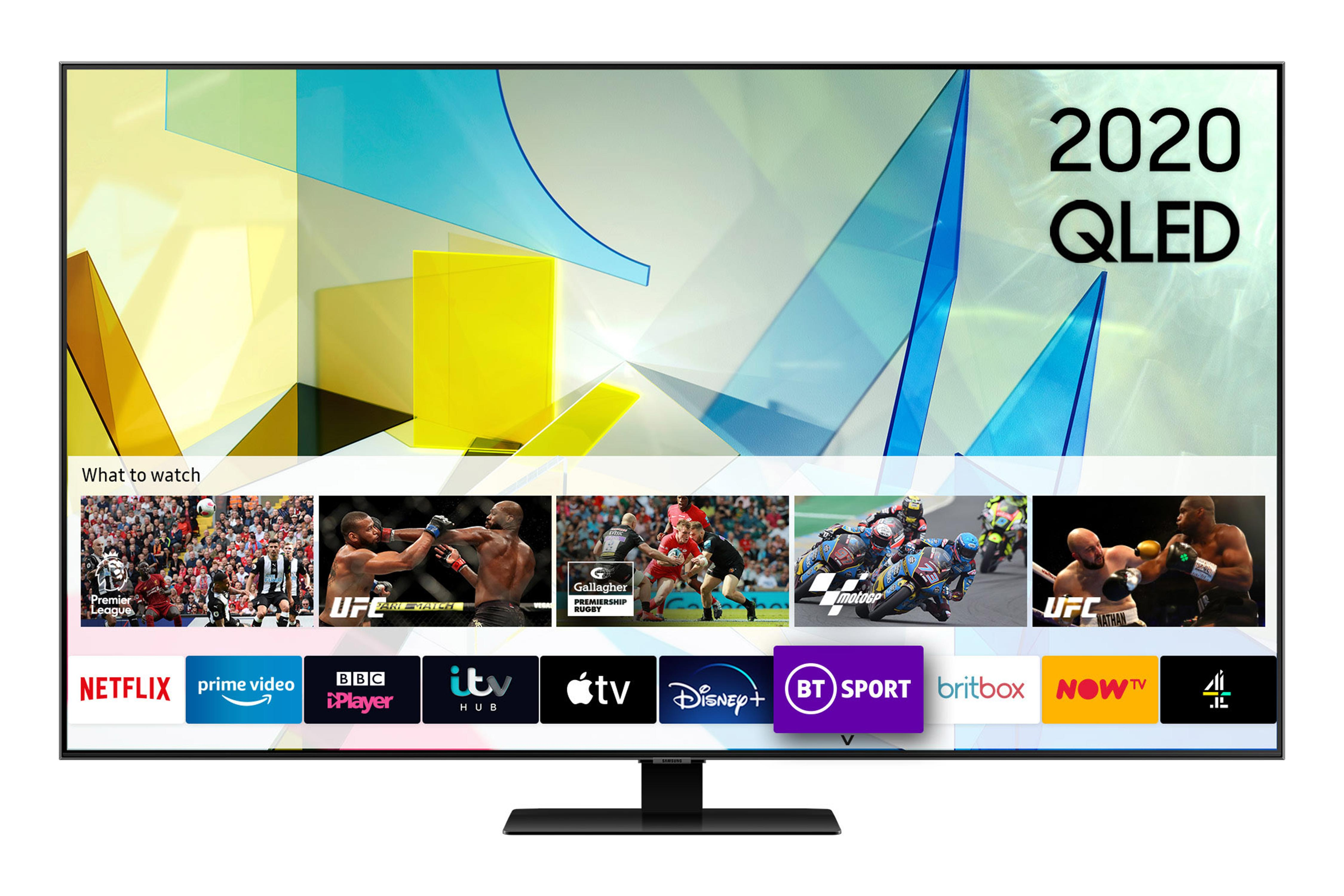 Samsung QE49Q80T (2020) 49 inch QLED 4K HDR 1500 Smart TV with Tizen OS