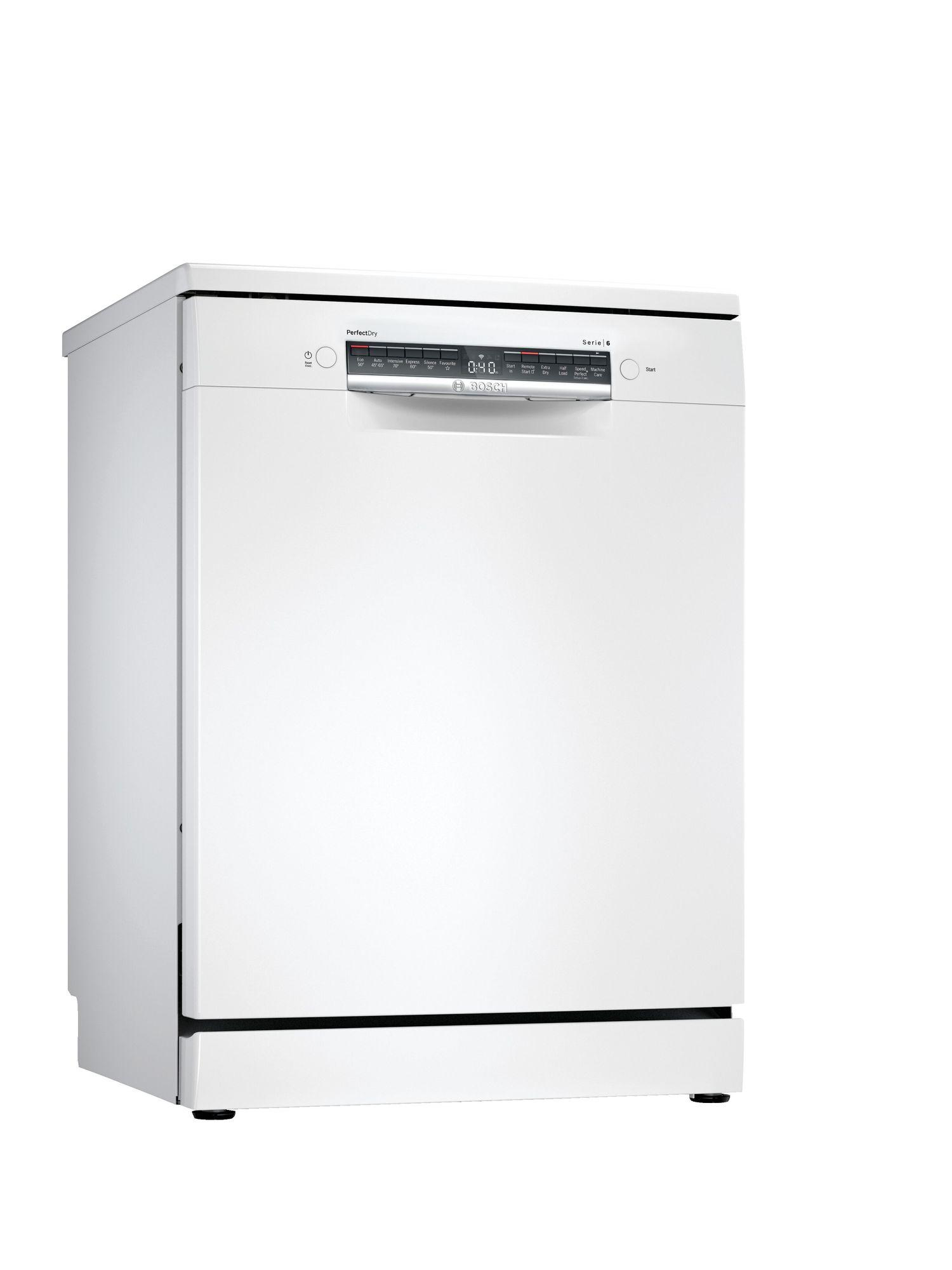 Image of Serie 6 SMS6ZCW00G 60cm Standard Dishwasher   White