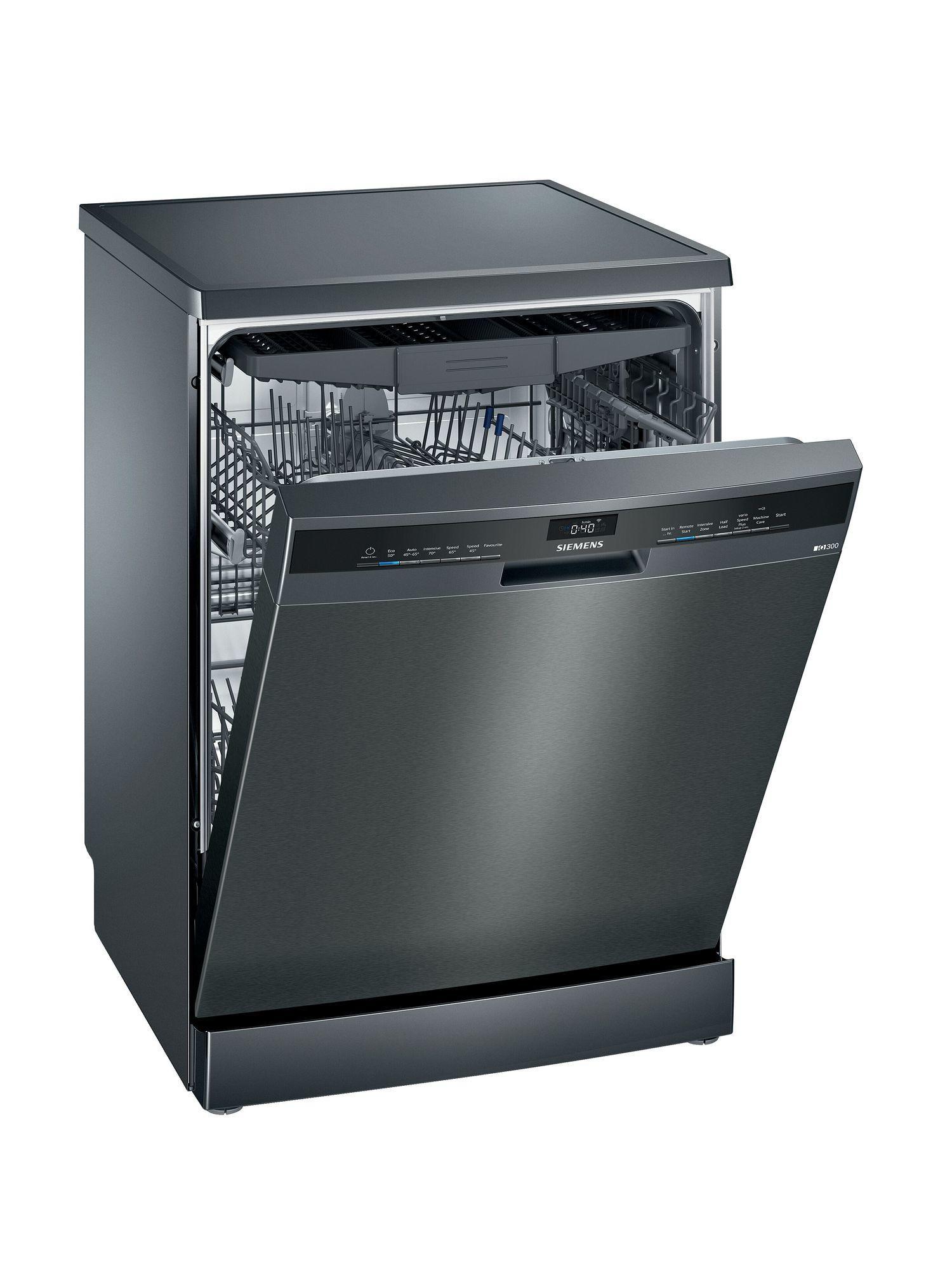 Image of iQ300 SN23EC14CG 60cm Standard Dishwasher | Black