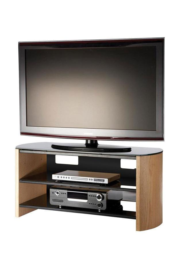 Alphason FW1100-LO Finewoods Cabinet TV Stand in Light Oak