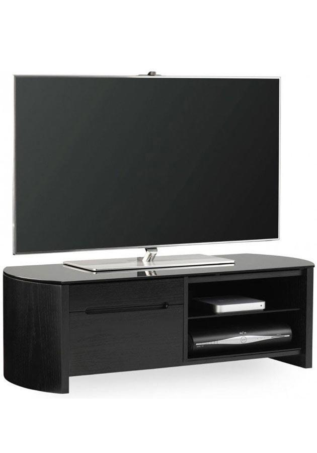 Alphason FW1100CB-BV Finewoods Cabinet TV Stand in Black Oak