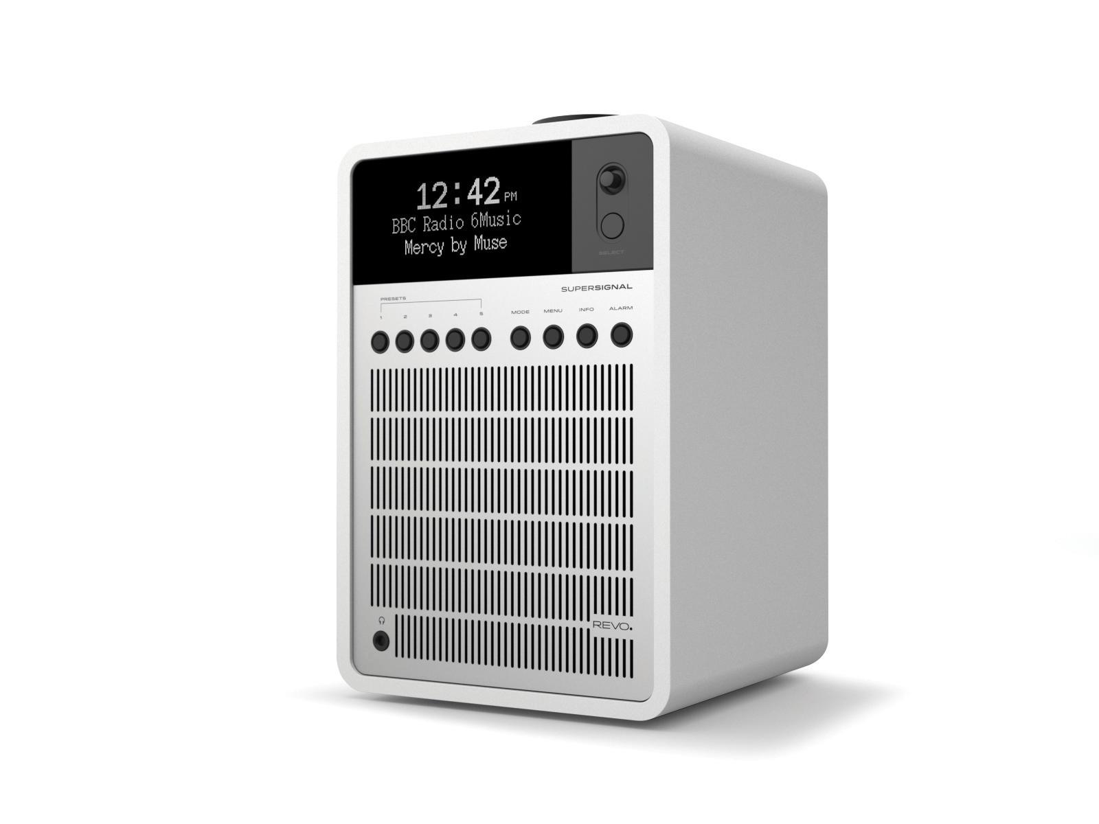Revo SuperSignal DAB Radio with Bluetooth - Matt White / Silver