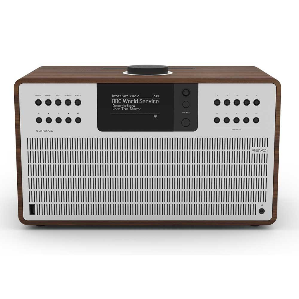 Revo SuperCD DAB Internet Radio With CD Player - Walnut / Silver