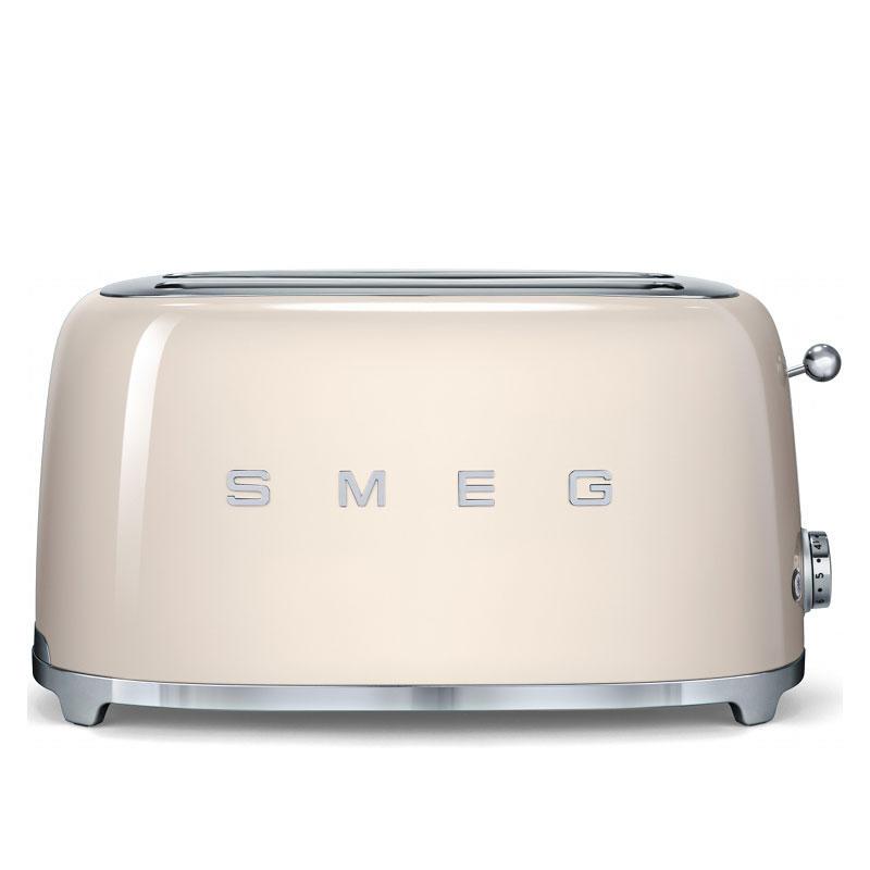 Smeg TSF02CRUK Retro 4 Slice Toaster - Cream