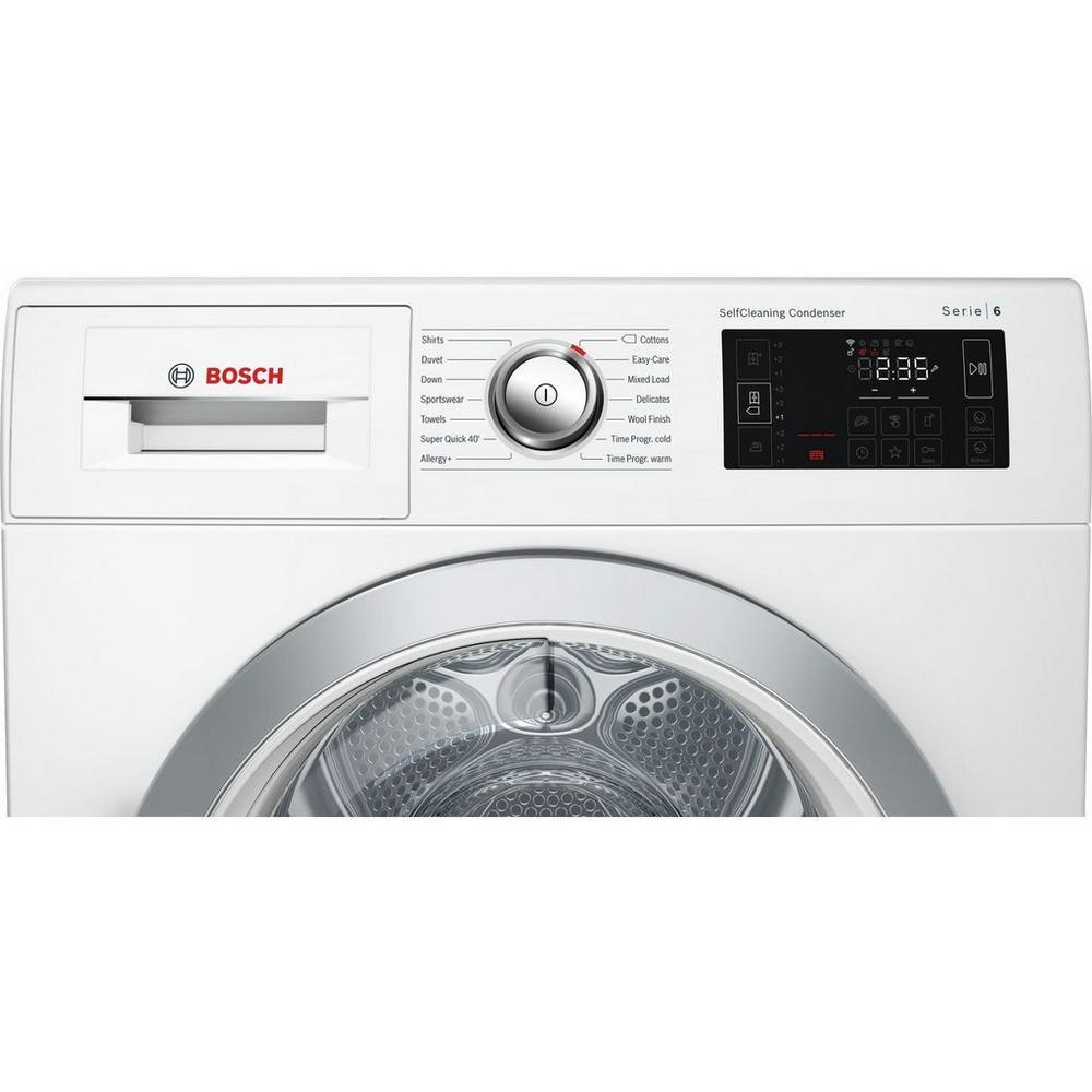 Bosch WTWH7660GB 9Kg Heat Pump Condenser Tumble Dryer