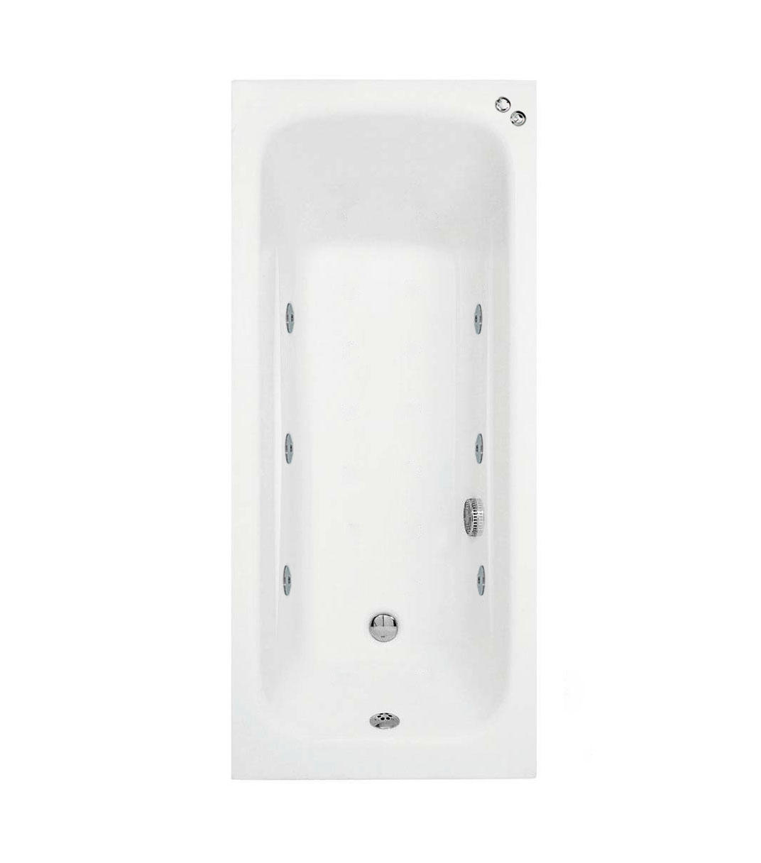 1400 mm Phoenix Crystal 6 jet Whirlpool Bath
