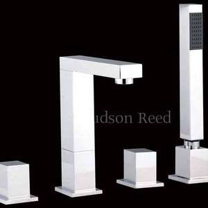 Hudson Reed Kubix 4 Hole Bath Shower Mixer with Swivel Spout and