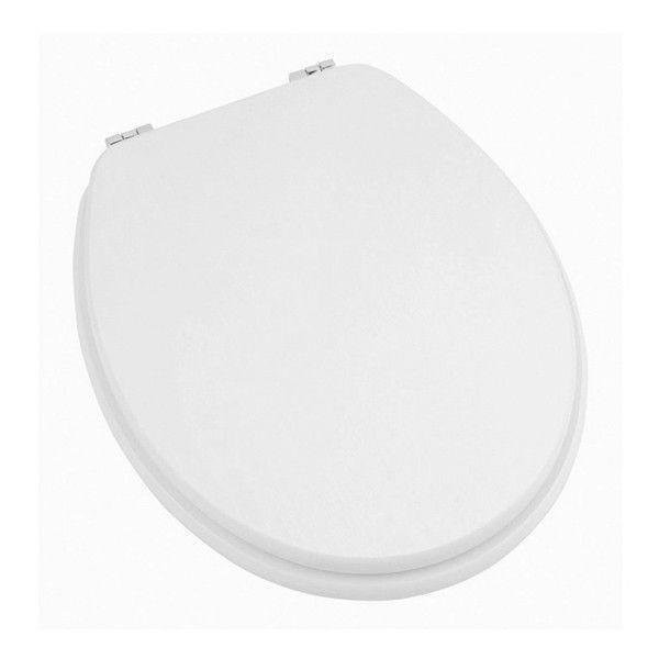 Moods Vista Gloss White Toilet Seat with Chrome Hinges