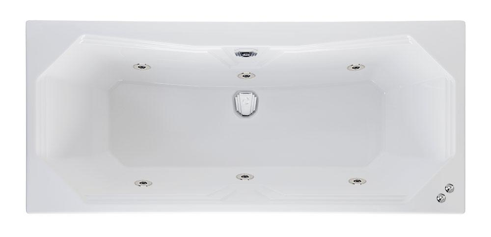 6 jet 1800 x 800 mm Highgate Duo Whirlpool Bath