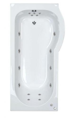 RH Concept 17 Jet P Shaped Bath | Free Light