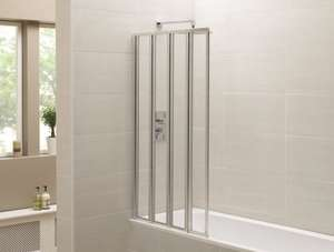 Identiti2 Chrome Four Fold Bath Shower Screen