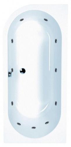 carron status 1550 mm whirlpool shower bath LH