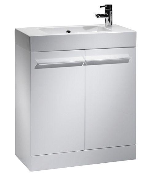 Tavistock Kobe 700mm White Floorstanding Vanity Unit & Basin K70