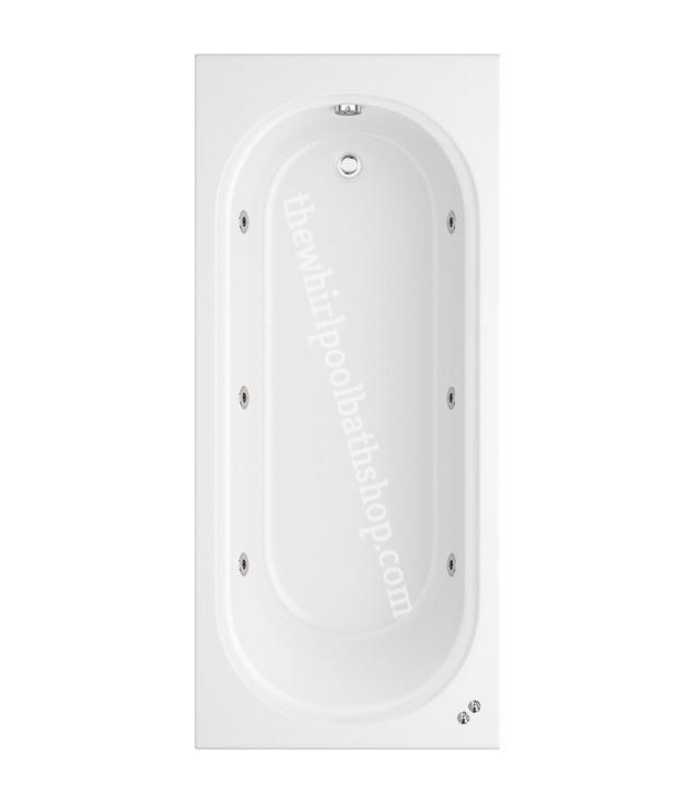 6 jet Trojan Miranda 1800 x 800 mm Single Ended Whirlpool Bath