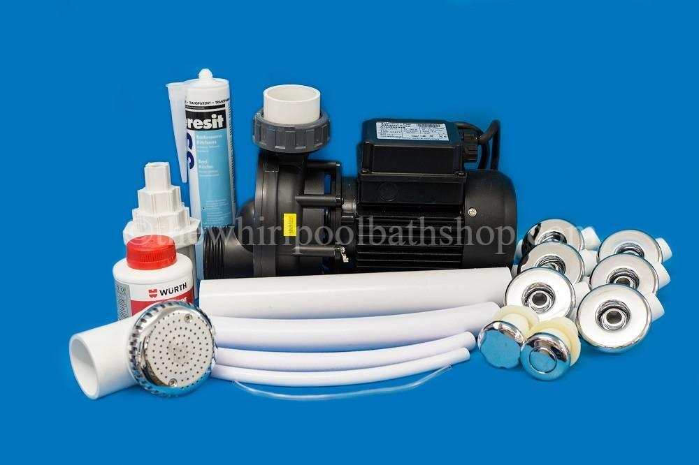 D.I.Y 6 Jet Whirlpool Bath Kit inc Jets & Pump