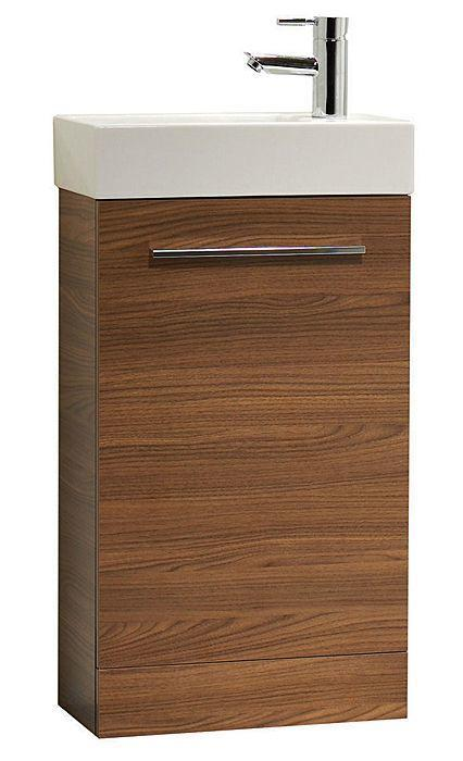 Tavistock Kobe 450mm Walnut Floorstanding Vanity Unit & Basin KF