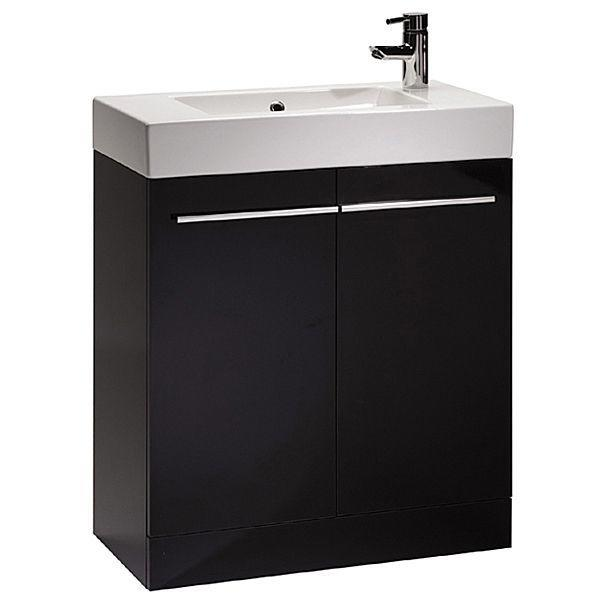Tavistock Kobe 700mm Black Floorstanding Vanity Unit & Basin K70