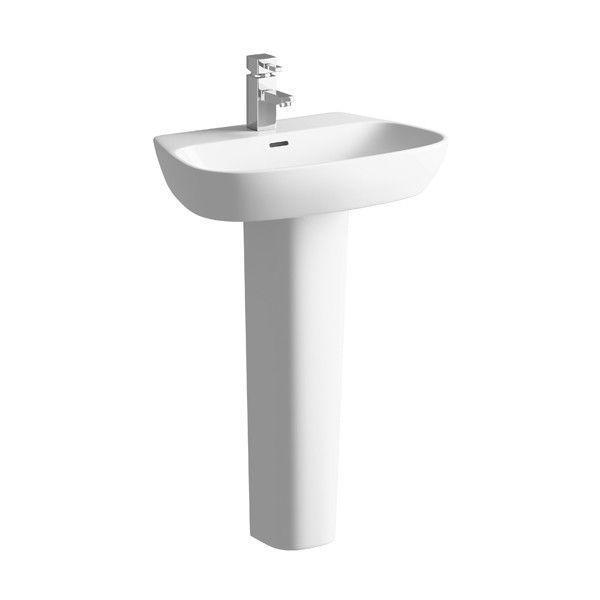 Moods Amyris 1 Tap Hole Basin with Full Pedestal 600mm