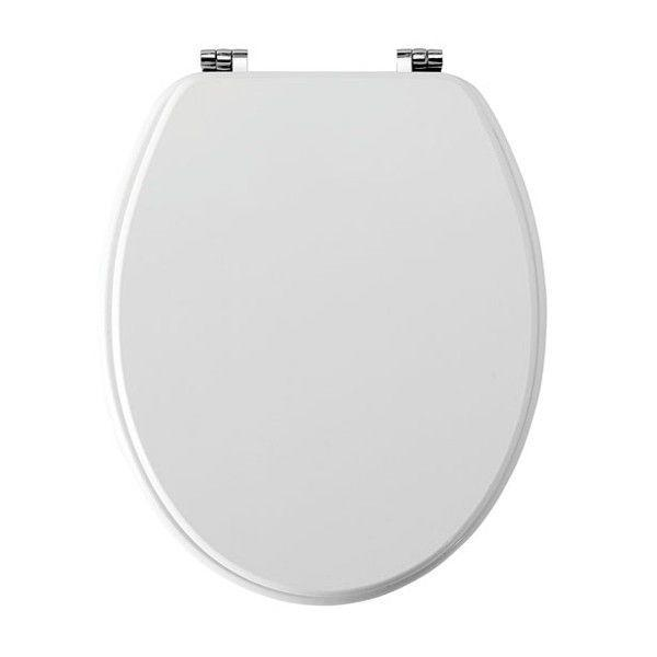 Moods Contemporary Wood Effect White Soft Close Toilet Seat