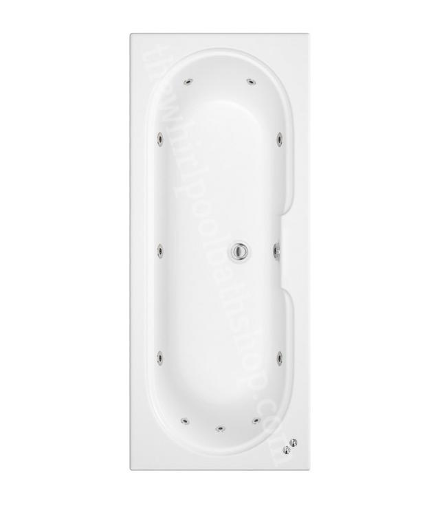 11 jet Trojan Miranda 1800 x 750 mm Double Ended Whirlpool Bath