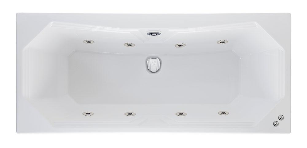 8 jet 1800 x 800 mm Highgate Duo Whirlpool Bath