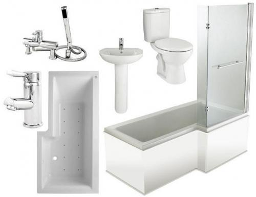 RH 12 Jet L Shaped Spa Bathroom Suite