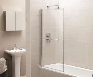 Identiti2 Chrome Square Bath Shower Screen
