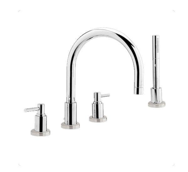 Hudson Reed Tec Lever 4 Tap Hole Basin Mixer With Small Spout TE