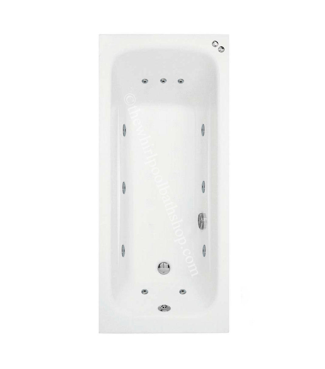 1600 mm Phoenix Crystal 11 jet Whirlpool Bath