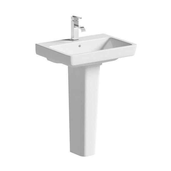Moods Neroli 1 Tap Hole Basin with Full Pedestal 550mm