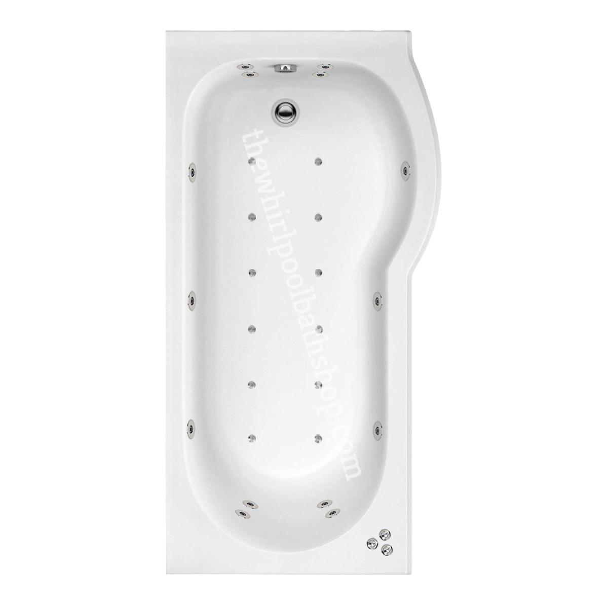 26 jet Trojan Concert 1600 mm Right Hand P Shaped Whirlpool Shower Bath