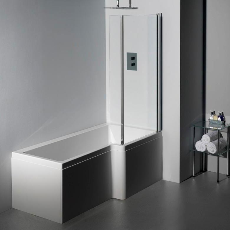RH Carron 1500 mm Quantum L Shape Whirlpool Shower Bath