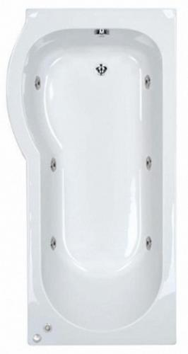 LH Space Saving Whirlpool Shower Bath