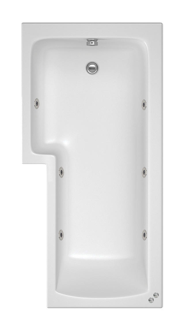 LH 6 Jet Shower Bath | Free Fade Chromo Light