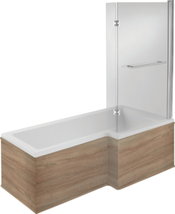RH 17 Jet Shower Bath | Walnut Panel | Free Light