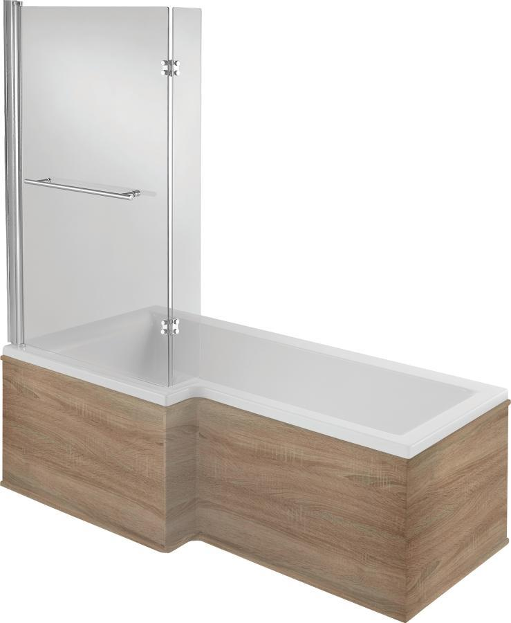 LH 8 Jet Shower Bath | Walnut Panel | Free Light