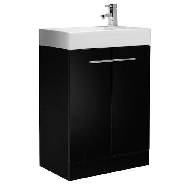 Tavistock Kobe 560mm Black Floorstanding Vanity Unit & Basin K56