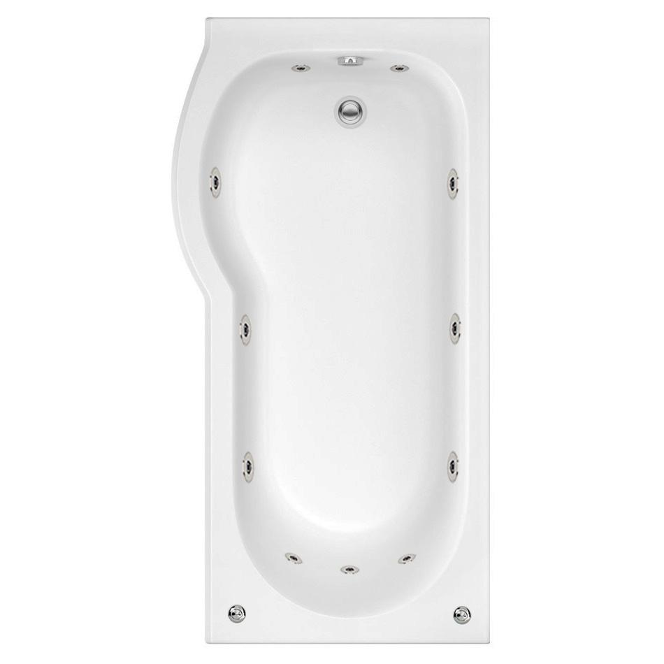 LH Concept 11 Jet P Shape Bath | Free Light